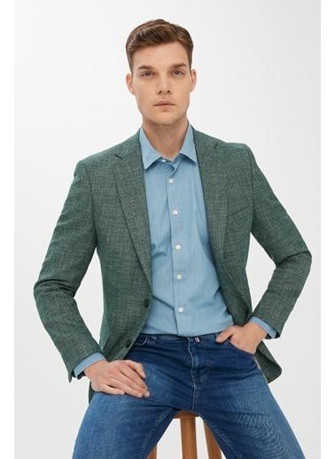 Kiğılı Klasik Ceket Yeşil